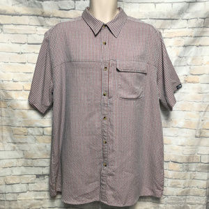 The North Face Plaid Button Up SS Shirt XL/TG